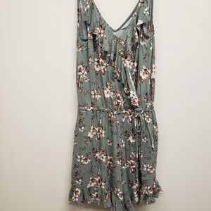 NEW! AEO Floral Romper, Pale Green